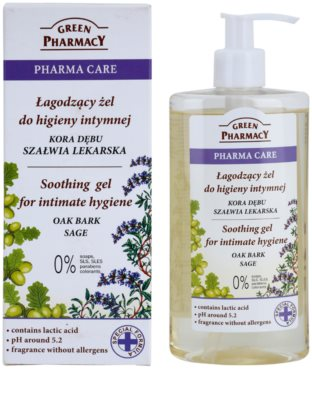 Green Pharmacy Pharma Care Oak Bark Sage nyugtató gél intim higiéniára 1