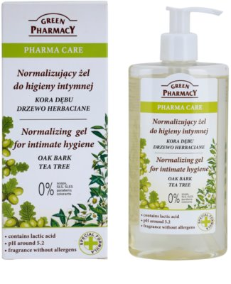 Green Pharmacy Pharma Care Oak Bark Tea Tree gél na intímnu hygienu 1