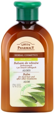 Green Pharmacy Hair Care Aloe balzam za barvane in drugače obdelane lase