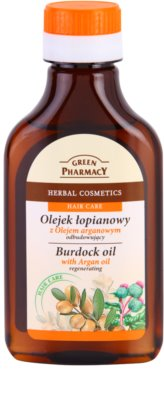 Green Pharmacy Hair Care Argan Oil óleo de bardana para cabelo com efeito regenerador
