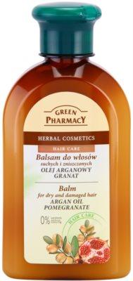 Green Pharmacy Hair Care Argan Oil & Pomegranate balzám pro suché a poškozené vlasy