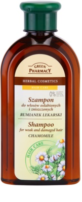 Green Pharmacy Hair Care Chamomile champú para cabello quebradizo y dañado