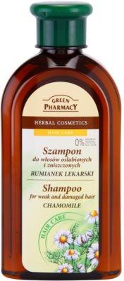 Green Pharmacy Hair Care Chamomile šampon za oslabljene in poškodovane lase