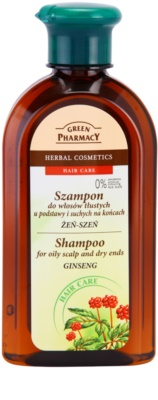 Green Pharmacy Hair Care Ginseng šampon za mastno lasišče in suhe konice las