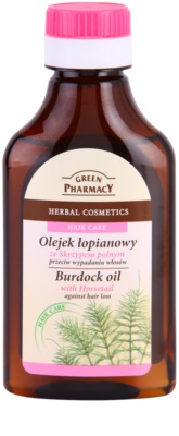 Green Pharmacy Hair Care Horsetail óleo de bardana anti-queda