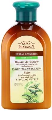 Green Pharmacy Hair Care Stinging Nettle Balsam pentru parul deteriorat, fraged si slab