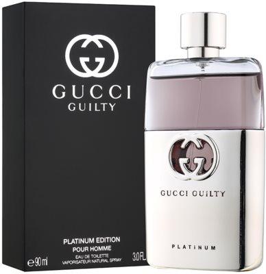 Gucci Guilty Pour Homme Platinum eau de toilette férfiaknak 1