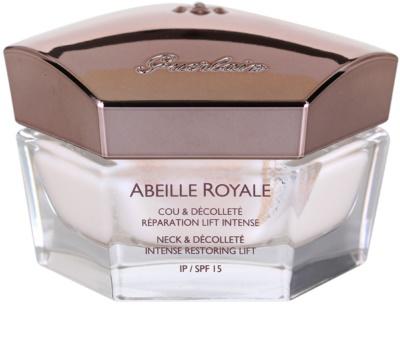 Guerlain Abeille Royale crema para cuello y escote para tensar y restaurar la piel de manera intensa