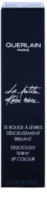 Guerlain La Petite Robe Noire Deliciously Shiny Lip Colour ruj hranitor parfumat 3