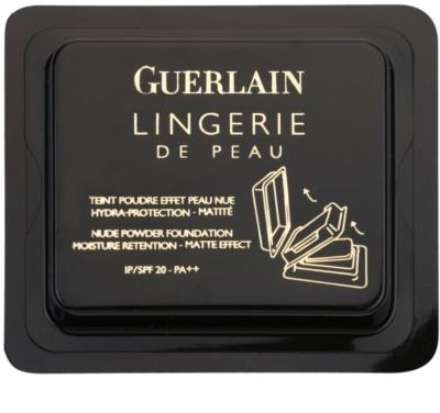 Guerlain Lingerie De Peau hydratační pudr s matujícím efektem - náhradní náplň SPF 20 1