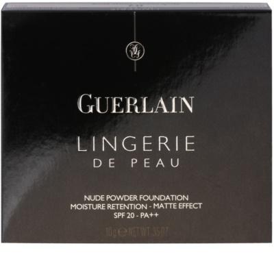 Guerlain Lingerie De Peau hydratační pudr s matujícím efektem - náhradní náplň SPF 20 2