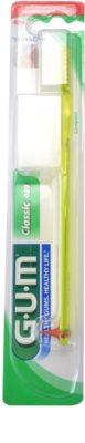 G.U.M Classic Compact periuță de dinți cu stimulatori de cauciuc fin