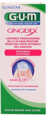 G.U.M Gingidex 0,12% ústní voda proti zubnímu plaku a pro zdravé dásně bez alkoholu 2