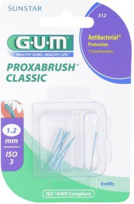 G.U.M Proxabrush Classic zestaw zapasowych szczoteczek międzyzębowych 8 szt.