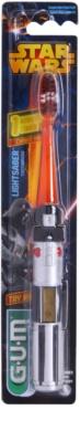 G.U.M Star Wars zobna ščetka za otroke z utripajočim časomerom mehka