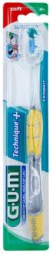 G.U.M Technique+ Compact escova de dentes com cabeça curta soft