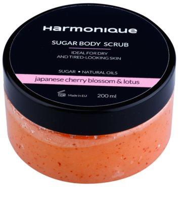 Harmonique Japanese Cherry & Lotos cukrový peeling pro suchou pokožku bez vitality