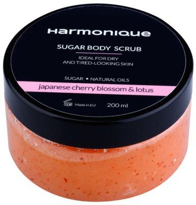 Harmonique Japanese Cherry & Lotos sladkorni piling za suho kožo brez vitalnosti