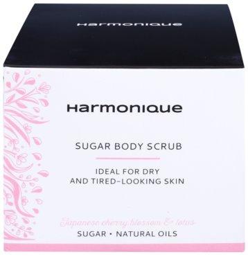 Harmonique Japanese Cherry & Lotos exfoliant de zahăr pentru piele uscată, fără vitalitate 2