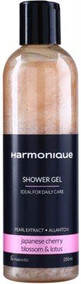 Harmonique Japanese Cherry & Lotos třpytivý sprchový gel pro každodenní použití