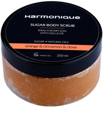 Harmonique Orange & Cinnamon & Clove Zucker-Peeling gegen Zellulitis