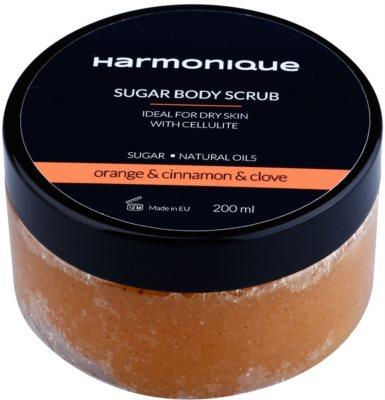 Harmonique Orange & Cinnamon & Clove цукровий пілінг проти розтяжок та целюліту
