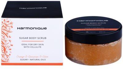 Harmonique Orange & Cinnamon & Clove Zucker-Peeling gegen Zellulitis 1