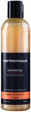 Harmonique Orange & Cinnamon & Clove gel de ducha con partículas brillantes para uso diario