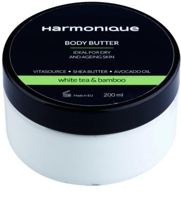 Harmonique White Tea & Bamboo Körperbutter gegen Hautalterung