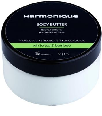 Harmonique White Tea & Bamboo manteiga corporal  contra envelhecimento da pele