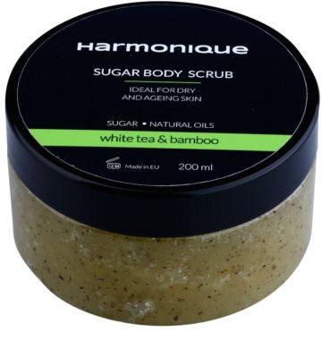 Harmonique White Tea & Bamboo cukrový peeling proti stárnutí pokožky