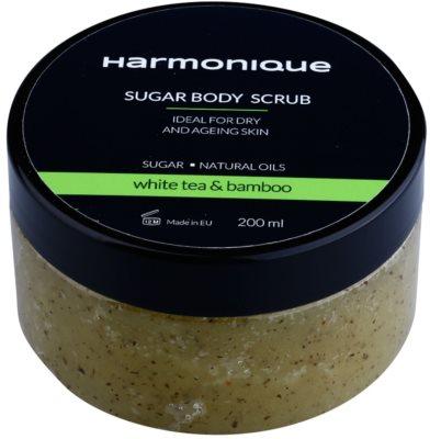 Harmonique White Tea & Bamboo Zucker-Peeling gegen Hautalterung