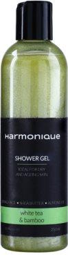 Harmonique White Tea & Bamboo bleščeči gel za prhanje za vsakodnevno uporabo