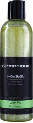 Harmonique White Tea & Bamboo Glitzer-Duschgel zur täglichen Anwendung
