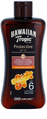 Hawaiian Tropic Protective aceite seco solar resistente al agua SPF 6