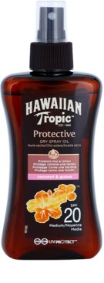 Hawaiian Tropic Protective Óleo seco de proteção solar à prova de água SPF 20