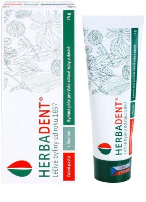 Herbadent Herbal Care зубна паста на основі лікарських рослин з фтором 1