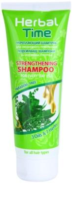 Herbal Time 3 Oils & 7 Herbs šampon za okrepitev las za vsakodnevno uporabo