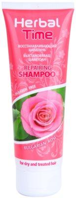 Herbal Time Bulgarian Rose champô com efeito regenerador