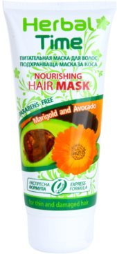 Herbal Time Marigold and Avocado mascarilla nutritiva para cabello