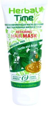 Herbal Time Nettle and Argan máscara regeneradora para cabelo