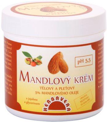 Herbavera Body feuchtigkeitsspendende Creme mit Mandeln für Körper und Gesicht