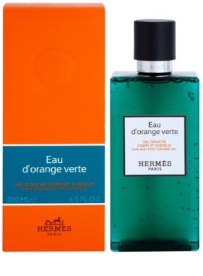 Hermès Eau d'Orange Verte żel pod prysznic unisex  włosów i ciała