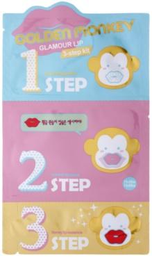 Holika Holika Golden Monkey set za lepe ustnice v treh korakih