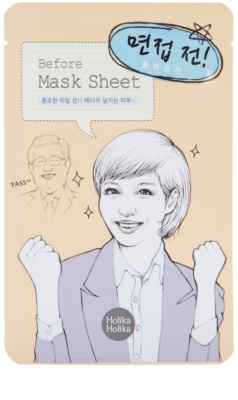 Holika Holika Mask Sheet Before energizující pleťová maska