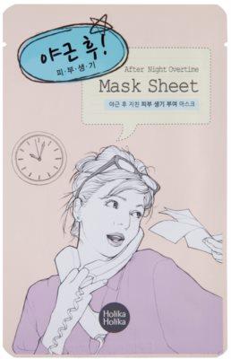 Holika Holika Mask Sheet After máscara facial revitalizante