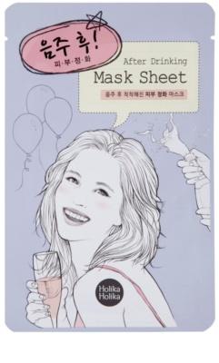Holika Holika Mask Sheet After mascarilla limpiadora para el rostro