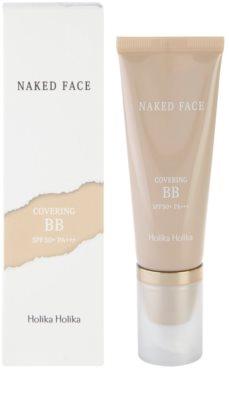 Holika Holika Naked Face BB creme  com alta proteção UV 2