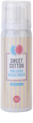 Holika Holika Sweet Cotton espuma para alisar pele e minimizar poros