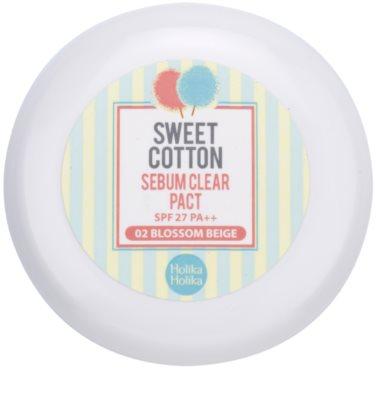 Holika Holika Sweet Cotton matující pudr SPF 27 2